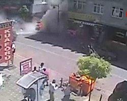 İşte Zeytinburnu'ndaki Patlama Anı