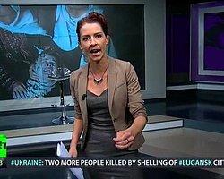 Russia Today televizyonu spikeri Abby Martin, Gazze'de yaşananlar için tepki gösterdi.