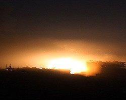 İsrail'in Askeri Üssüne Füze İsabet Etti