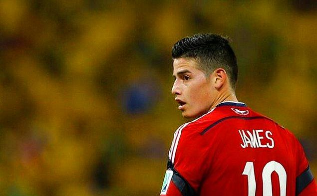 5. Kolombiya'nın James Rodriguez'i ön plana en çok çıkan oyunculardandı.