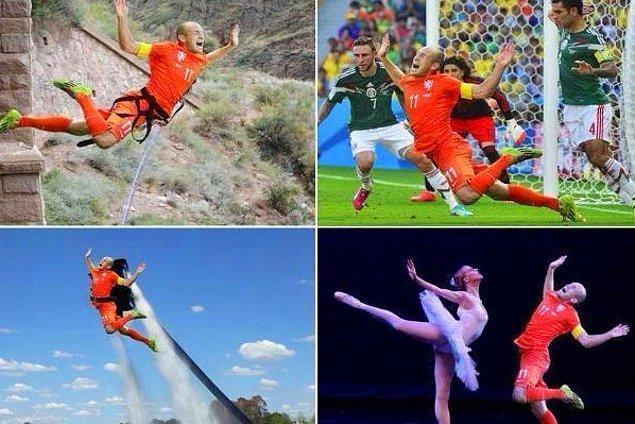 11. Robben'in düşüşleri de kimileri için sinir bozucu olmadı değil.