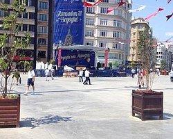 Taksim Meydanı'nda İlginç Ağaçlandırma