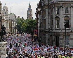 İngiltere'de Binler Gazze İçin Yürüdü