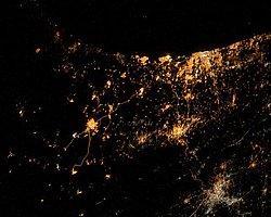 Gazze'deki Ateşe Uzaydan Bakış