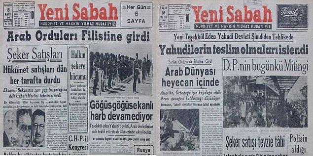 """Araplar 15 Mayıs 1948 gününü """"El Nakba"""" ya da """"Felaket"""" günü olarak anarlar."""