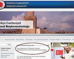 """11 Haziran 2014'ten beri IŞİD işgali altında olan, dolayısıyla da kapalı durumdaki Musul Başkonsolosluğu'nun internet sitesine, Dışişleri Bakanı Ahmet Davutoğlu'nun """"bayram tebriğinin"""" yüklenmesi TBMM'ye taşındı."""