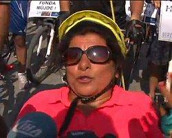 Engelli Bisikletçiye Taksim'de Polis Engeli