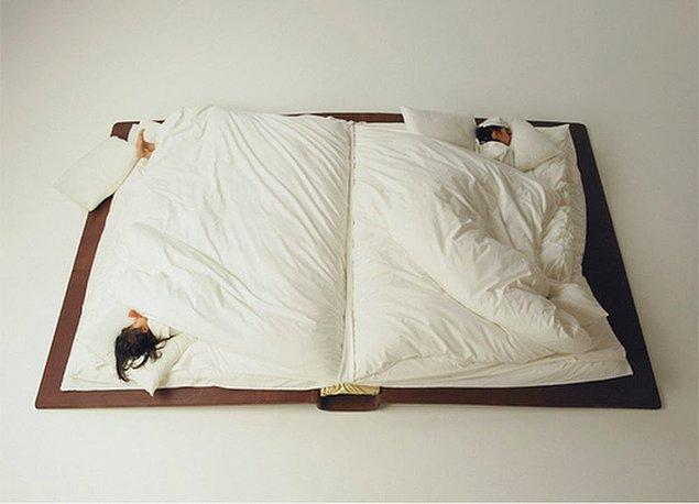 9. Kitabın yanında değil içinde uyumak isteyenlere :)