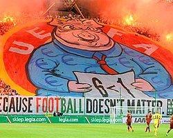 Legia Varşova Taraftarından UEFA'ya Ağır Gönderme!