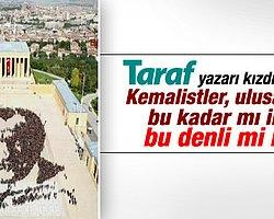Taraf yazarı Hadi Uluengin, 6 bin kişinin Anıtkabir'de Atatürk portresi deneyerek Guinnes Rekorlar Kitabı'na girmesi üzerine bir yazı kaleme aldı