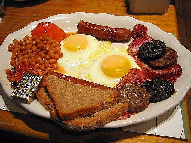 1. İngiliz kahvaltısı