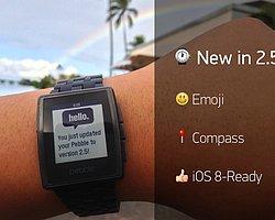 Pebble Güncellendi, Emoji, IOS 8 Ve Pusulu Desteği Geldi