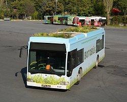 """İETT daha fazla yeşil alan fikri ile bir otobüs tasarladı. """"BOTOBÜS"""" adını taşıyan botanik otobüs üstündeki bahçesiyle trafiğe çıktı."""