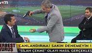 Aybaba canlı yayında Mehmet Baransu'ya silah çekti