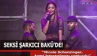 Seksi Şarkıcı Bakü'nü coşturdu (VİDEO)