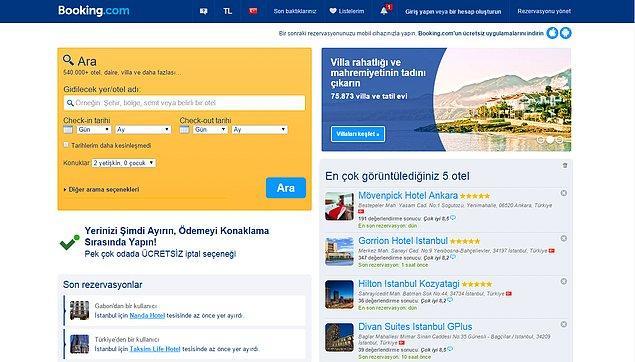 4. Otellerin Sepeti - Booking.com