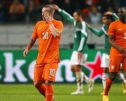 Sneijder'in Harika Golü Hollanda'ya Yetmedi