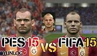 Galatasaray FIFA 15 vs PES 2015 Yüz Karşılaştırması