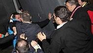 Yerde gazeteci tekmeleyenler serbest bırakıldı!