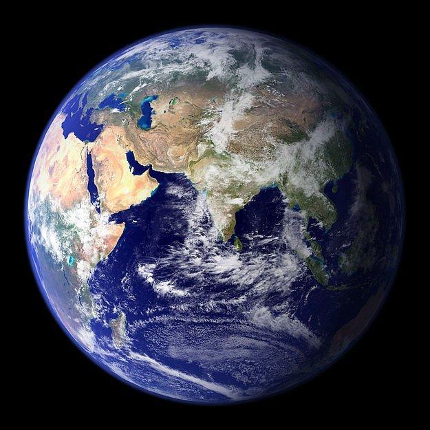 Это планета Земля. Здесь мы живем.