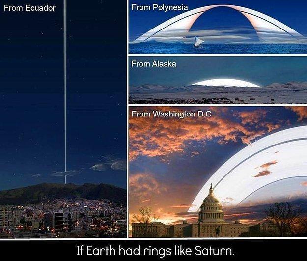 А здесь можно представить, как бы выглядел горизонт, если бы у Земли были кольца, как у Сатурна.