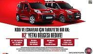 Kasım ayında Fiat ticari araç alacak olan esnaf ve Kobilere K2 yetki belgesi hediye
