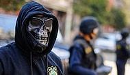 Mısır'da 'İskelet Maskeli Polis' Şaşkınlık Yarattı