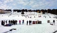 Uludağ'da Yeterince Kar Yok, Günübirlikçiler Düşe Kalka Kayak Yaptı