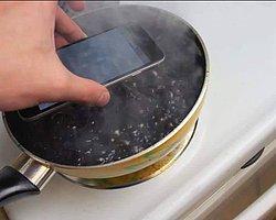 iPhone'u Tavada Pişirdi