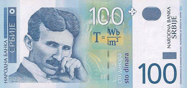 Sırbistan'daki bir banknot