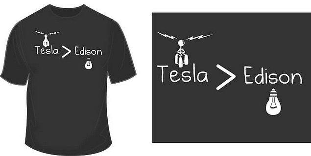 3. Tesla, 1884'te Birleşik devletlere ilk defa geldiğinde, Thomas Edison için çalışır. Edison henüz ampulün patentini almıştır ve elektriğin dağıtımı için bir sisteme ihtiyaç duymaktadır.