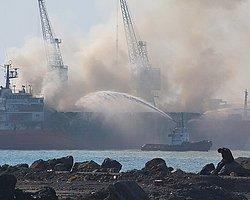 İskenderun Limanında Gemi Yangını
