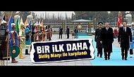 Cumhurbaşkanı Erdoğan, İlham Aliyev'i Dombra ve Diriliş Ertuğrul Müzikleriyle Karşıladı!