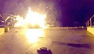 Falcon 9 roketinin çakıldığı an