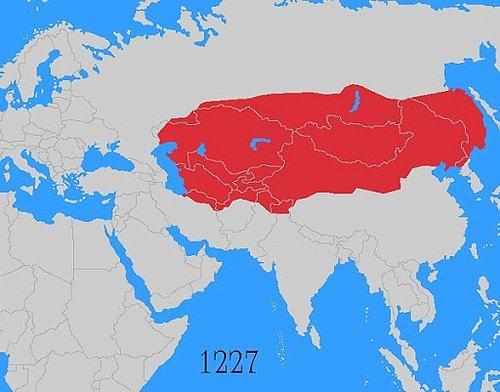 Cengiz Kağan öldüğü zaman Moğol İmparatorluğu