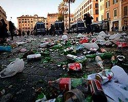 """Hollandalı Holiganlar Roma'yı Karıştırdı, """"Bu Bir Barbarlıktır"""""""