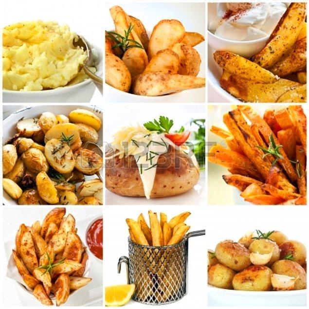 7. Kızartmasıyla çocukları, salatasıyla kadınları, cipsiyle erkekleri, püresiyle yaşlıları mutlu eden patates bize herkese hitap etmenin ne demek olduğunu öğretir.