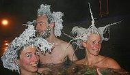 -30 Derecede Havuza Girenlerin Donmuş Vaziyetteki 16 Hali