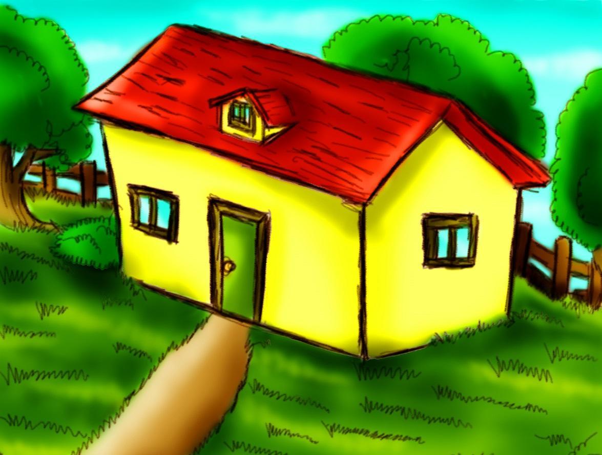 Ilkokulda Resim Dersinde çizilen Bahçe Içindeki Ev Ile Ilgili 11