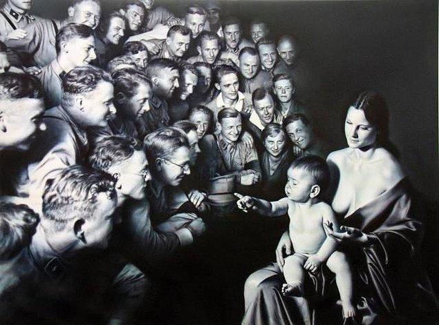Buradan sonra sizi Helnwein tabloları ile başbaşa bırakıyorum. Artık ne anlattıkları konusunda zihninizde bir şeyler canlanacaktır.