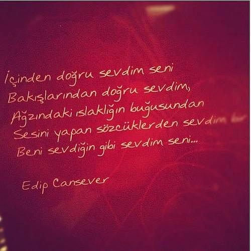 İçinden doğru sevdim seni  Edip Cansever'den Duygu Yüklü 18 Şiir… Herkes Biraz Var O Kadar… s defe0c71cebcde82063bf2098c0aef1f2149e271