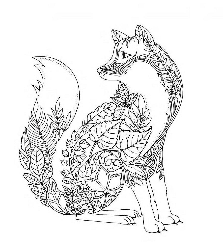 Mandala Hayvan Boyama Sayfasi Resim Cizmek