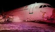 Airbus A320 Tipi Air Canada Uçağı Pistten Çıktı