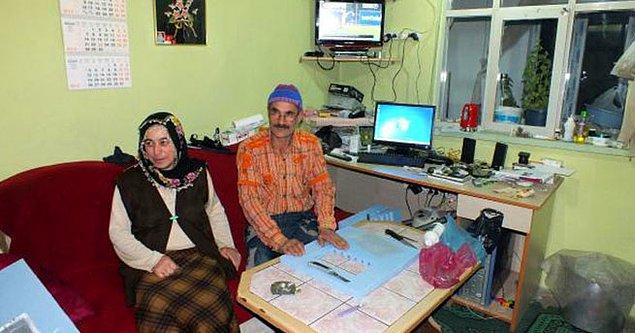 Yozgat'ta, inşaat ustası 49 yaşındaki Veysel Narin, evinin çatısına kurduğu güneş paneli ve rüzgar gülü ile ürettiği elektriği kullanıyor.