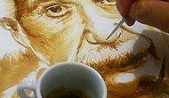 Brezilyalı Sanatçı Dirceu Veiga'nın Kahve ile Yaptığı Birbirinden Muhteşem Resimler