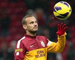 Wesley Sneijder Antrenmanda Sakatlandı