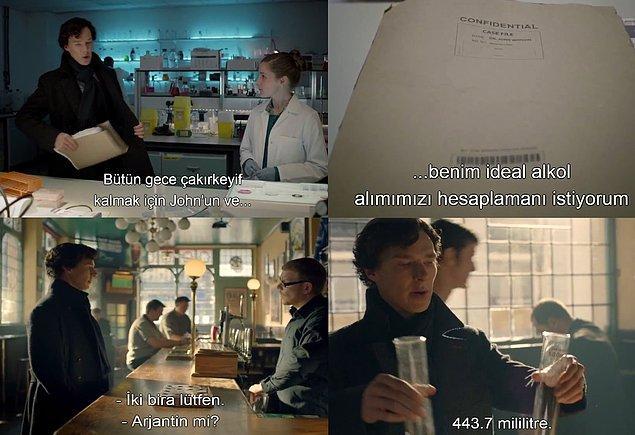 17. Sherlock'un ''çakırkeyif'' kalma yöntemi.