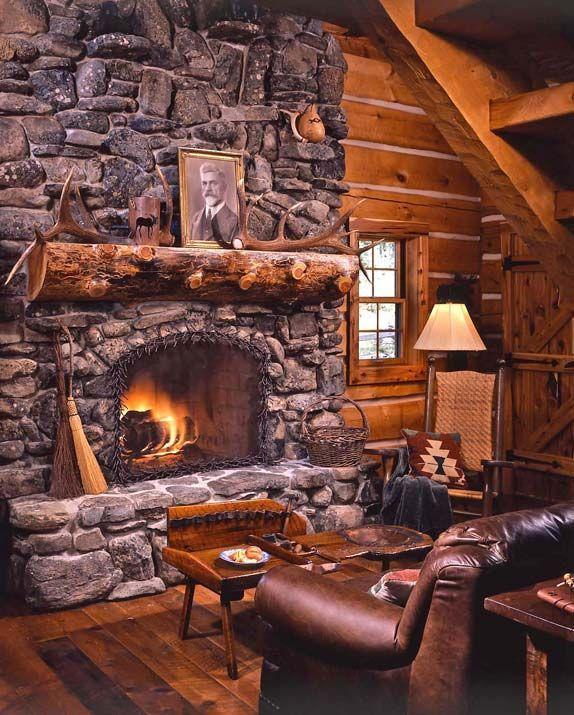 дизайн каминов в доме фото деревянном доме