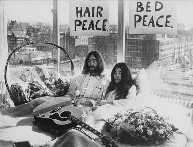 10. John Lennon ve Eşi Yoko Ono