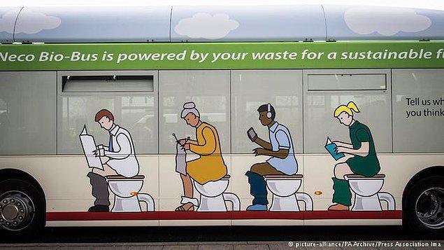 İnsan dışkısı konutlara gaz, otobüse enerji olarak dönüyor